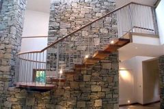 Staircase incorporating brick design from Clonmines Joinery Ltd